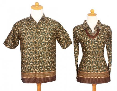 Batik Sarimbit Parang Tumpal Hijau Haluma Katun